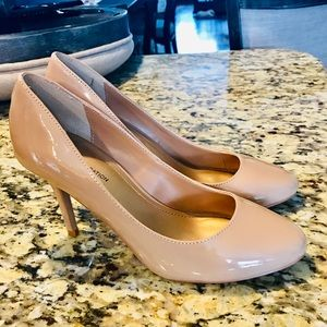 BCBGeneration | Nude Patent Leather Heels